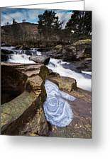 Falls Of Douchart Greeting Card