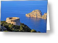 Famous Tower Of Savinar On Ibiza Island Greeting Card