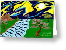 Fantasy Trees Greeting Card by Lewanda Laboy