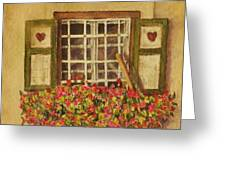 Farm Window Greeting Card