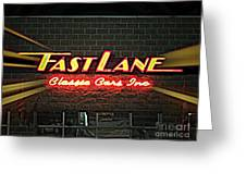 Fast Lane In Lights Greeting Card