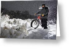 Fat Tire Bike Greeting Card