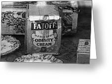Fatoff Obesity Cream Bottled Electricity Store Window Ghost Town Virginia City Montana 1971 Greeting Card