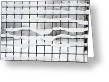 Fence With Snow Greeting Card