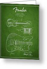 Fender Electric Guitar Patent Drawing From 1966 Greeting Card