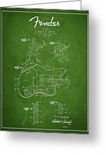 Fender Guitar Patent Drawing From 1960 Greeting Card