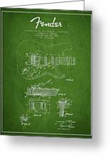 Fender Tremolo Device Patent Drawing From 1956 Greeting Card