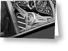 Ferrari Steering Wheel Greeting Card by Jill Reger