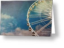 Ferris Wheel Retro Greeting Card by Jane Rix