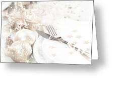 Festive Table Setting Greeting Card
