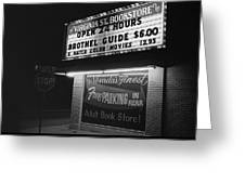 Film Noir Farewell My Lovely 1975 Brothel Guide Virginia St. Bookstore Reno Nevada 1979-2008 Greeting Card
