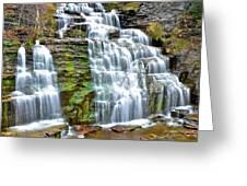 Finger Lakes Waterfall Greeting Card