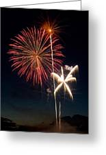 Fire Works Greeting Card