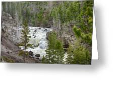 Firehole Falls Greeting Card