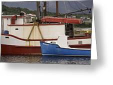 2 Fishing Boats At The Dock Greeting Card