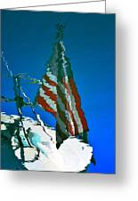 Flag Day Reflection Greeting Card by Newel Hunter