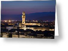 Florence At Sunset Greeting Card