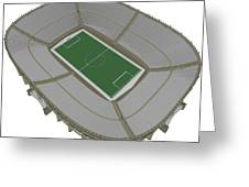 Football Soccer Stadium Greeting Card