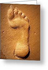 Footprint Greeting Card