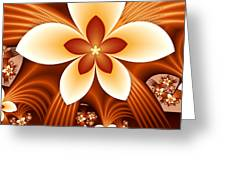 Fractal Fantasy Flowers Greeting Card