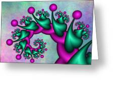 Fractal Neon Catwalk Greeting Card