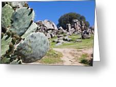 France, Corsica, Filitosa Greeting Card