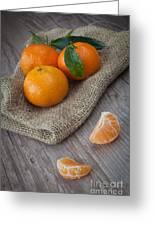 Fresh Tangerine Greeting Card
