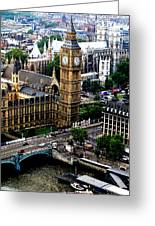 From The Eye Big Ben Greeting Card