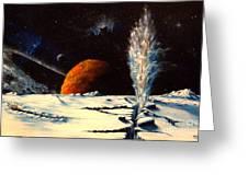 Frozen Geyser Greeting Card
