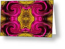 Fuchsia Sensation Abstract Greeting Card