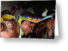 Fulnio Indians Of Brazil  Greeting Card
