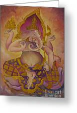 Ganesha God Of Hindu Greeting Card