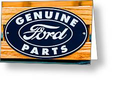 Genuine Ford Parts Sign Greeting Card