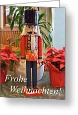 German Nutcracker - Frohe Weihnachten Greeting Card