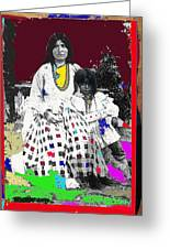 Geronimo's Wife Ta-ayz-slath And Child Unknown Date Collage 2012 Greeting Card