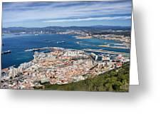 Gibraltar City And Bay Greeting Card