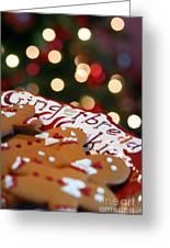 Gingerbread Cookies On Platter Greeting Card