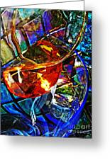 Glass Abstract 691 Greeting Card