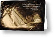 Glory Rays Greeting Card