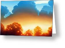 Glowing Greeting Card by Kevin Lawrence Leveque