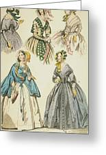 Godey's Lady's Book, 1842 Greeting Card