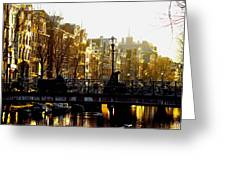 Golden Amsterdam Greeting Card