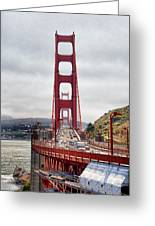 Golden Gate Bridge - San Francisco California Greeting Card