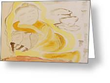 Golden Maiden Greeting Card