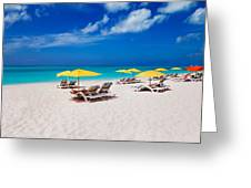 Grace Bay Beach Greeting Card
