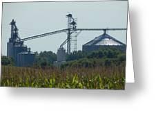 Grain Elevator Greeting Card