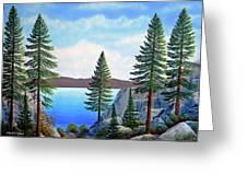 Granite Boulders Lake Tahoe Greeting Card