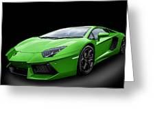 Green Aventador Greeting Card