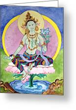 Green Tara 13 Greeting Card