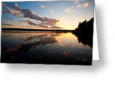 Greenlake Sunset Greeting Card